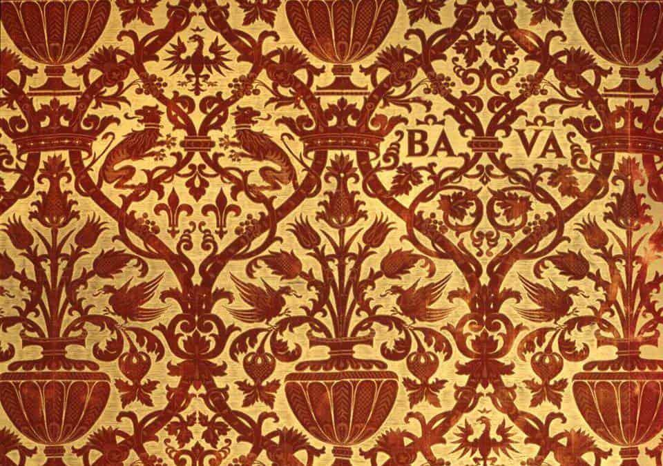 Il restauro della tappezzeria in velluto del Salone d'Onore (inv. 1409)