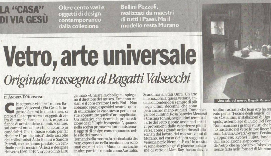 Vetro, arte universale. Originale rassegna al Bagatti Valsecchi
