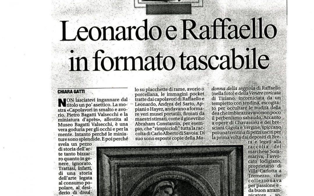 Leonardo e Raffaello in formato tascabile