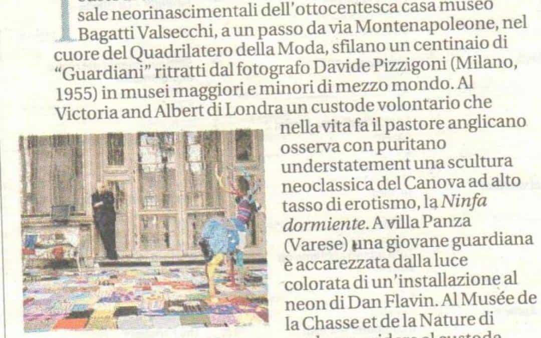 I custodi dei grandi musei in posa per gli scatti di Davide Pizzigoni