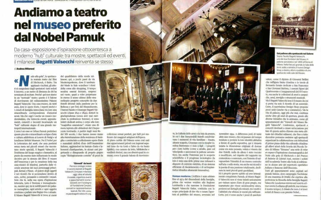 Andiamo a teatro nel museo preferito dal Nobel Pamuk