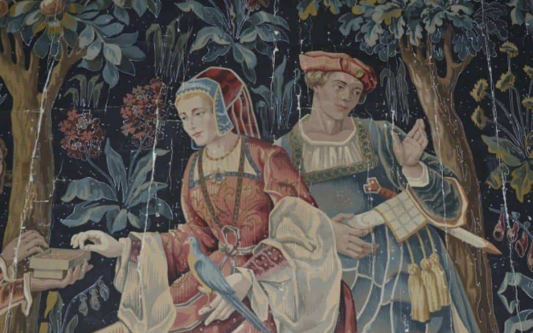 The paintings hidden in the Aubusson tapestries