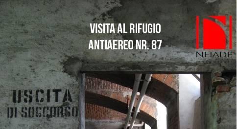 Visita al rifugio antiaereo n.87