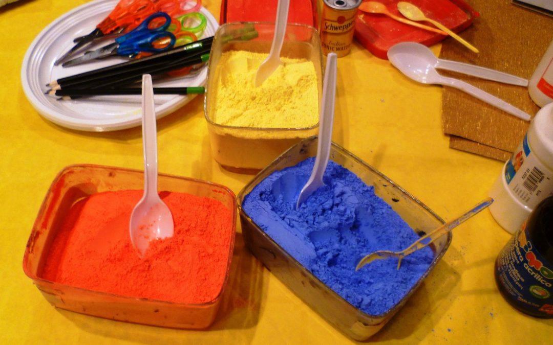 Un mondo di polveri colorate