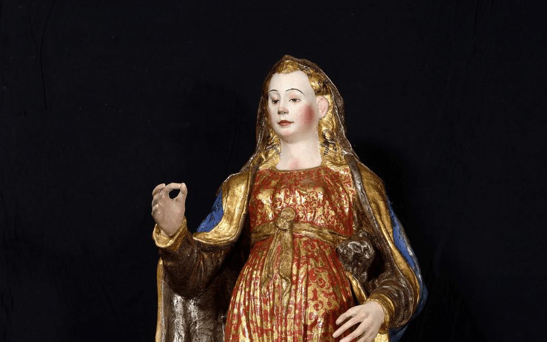 Portato a termine il restauro della scultura di Norcia