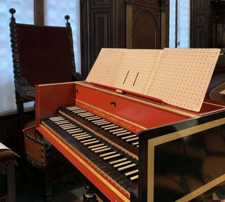 Antique harpsichord notes at the Bagatti Valsecchi Museum